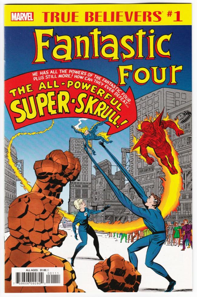 Couverture de True Believers: Fantastic Four (2019) - Fantastic four: The all powerful super Skrull!