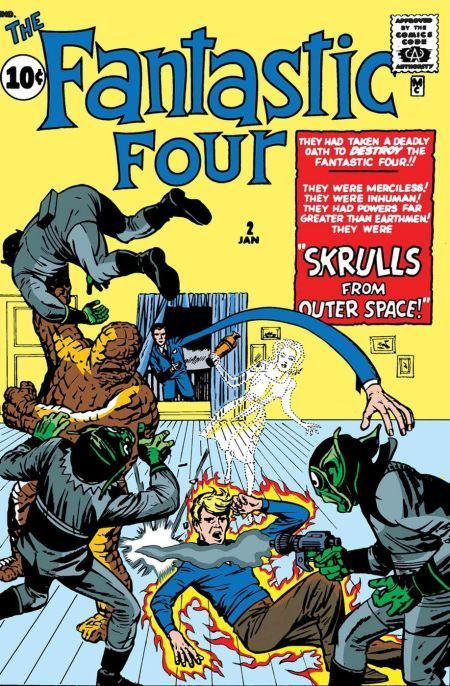 Couverture de True Believers: Fantastic Four (2019) - The fantastic four: Srulls from outer space!