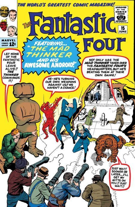 Couverture de True Believers: Fantastic Four (2019) - The fantastic four: The Mad Thinker and His Awesome Android!