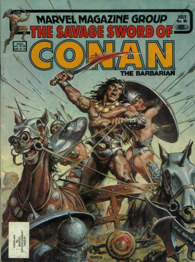 Couverture de Savage Sword of Conan The Barbarian (The) (1974) -90- Devourer of Souls!
