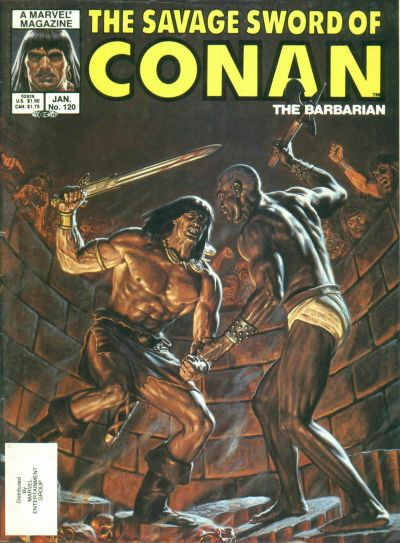 Couverture de Savage Sword of Conan The Barbarian (The) (1974) -120- Star of Thamazhu