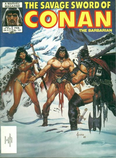 Couverture de Savage Sword of Conan The Barbarian (The) (1974) -121- The Fountain of Umir