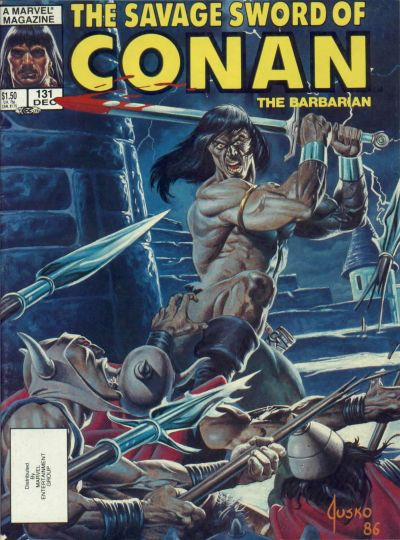 Couverture de Savage Sword of Conan The Barbarian (The) (1974) -131- Reavers of the Steppes