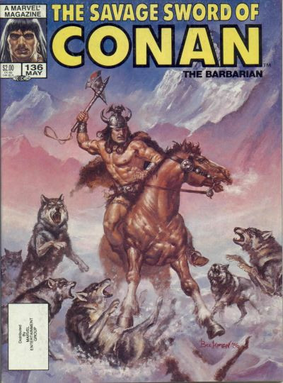 Couverture de Savage Sword of Conan The Barbarian (The) (1974) -136- Seventh Isle of Doom