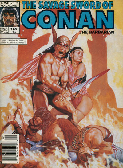 Couverture de Savage Sword of Conan The Barbarian (The) (1974) -145- Feast of the Stag