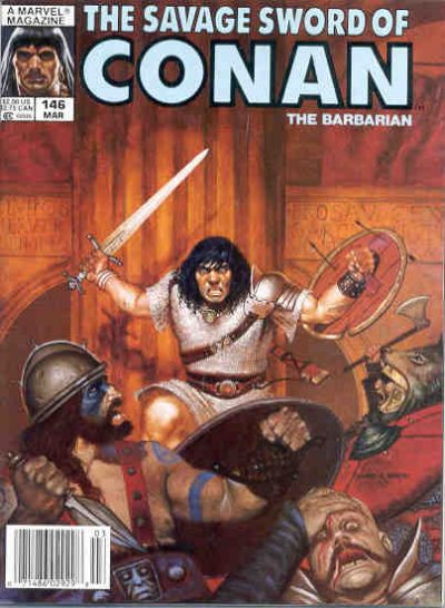 Couverture de Savage Sword of Conan The Barbarian (The) (1974) -146- Blood Circus
