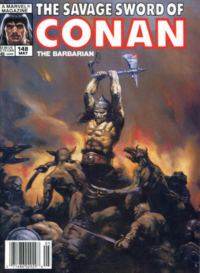 Couverture de Savage Sword of Conan The Barbarian (The) (1974) -148- Besieger of Cities