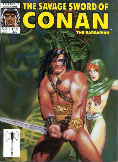 Couverture de Savage Sword of Conan The Barbarian (The) (1974) -150- Call to the Slain