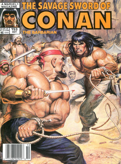 Couverture de Savage Sword of Conan The Barbarian (The) (1974) -153- Blood on the Sand