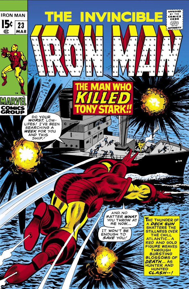 Couverture de Iron Man Vol.1 (Marvel comics - 1968) -23- The Man Who Killed Tony Stark!
