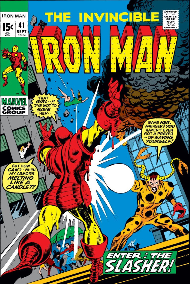Couverture de Iron Man Vol.1 (Marvel comics - 1968) -41- The Claws of the Slasher!