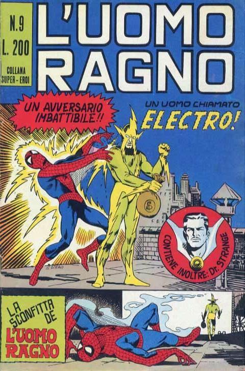 Couverture de L'uomo Ragno V1 (Editoriale Corno - 1970)  -9- Un Uomo chiamato Electro!