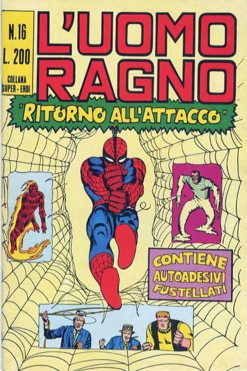 Couverture de L'uomo Ragno V1 (Editoriale Corno - 1970)  -16-