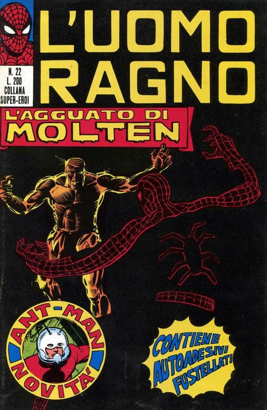 Couverture de L'uomo Ragno V1 (Editoriale Corno - 1970)  -22- L'Agguato di Molten