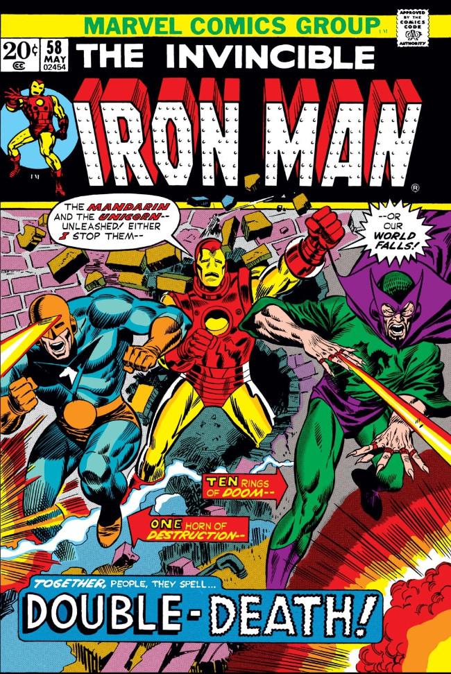 Couverture de Iron Man Vol.1 (Marvel comics - 1968) -58- Mandarin and the Unicorn: Double-Death!