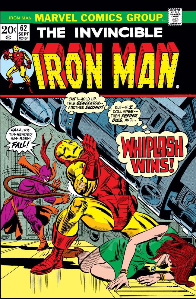 Couverture de Iron Man Vol.1 (Marvel comics - 1968) -62- Whiplash Returns!