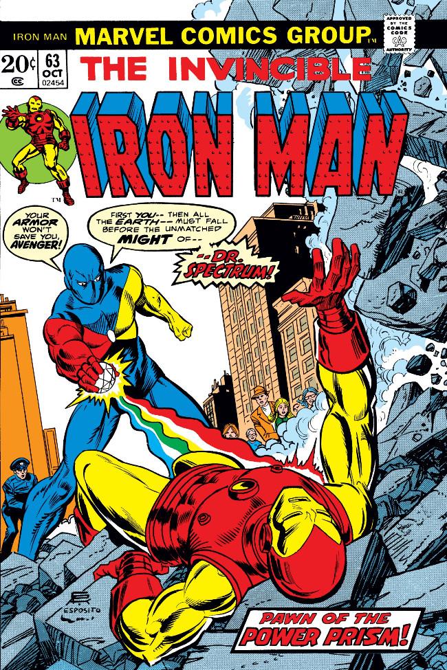 Couverture de Iron Man Vol.1 (Marvel comics - 1968) -63- Enter: Dr. Spectrum