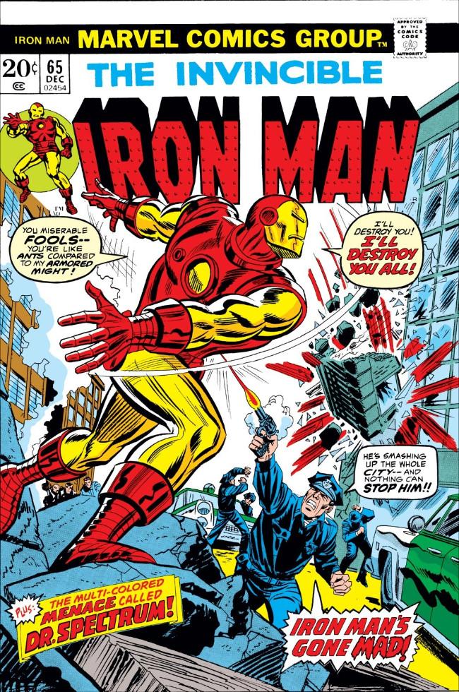 Couverture de Iron Man Vol.1 (Marvel comics - 1968) -65- The Cutting Edge of Death!