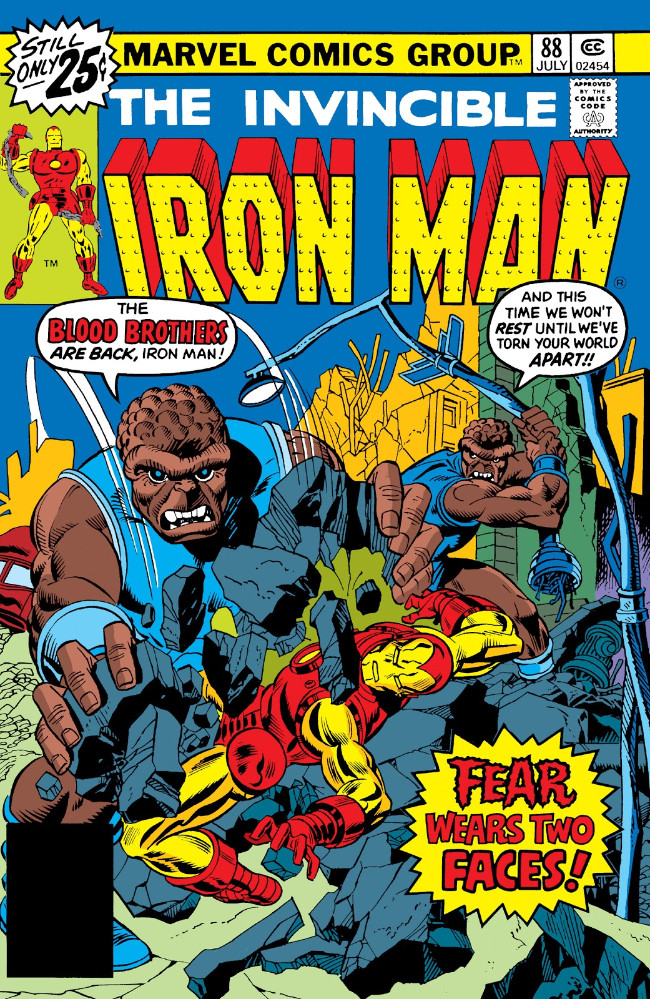 Couverture de Iron Man Vol.1 (Marvel comics - 1968) -88- Fear Wears Two Faces
