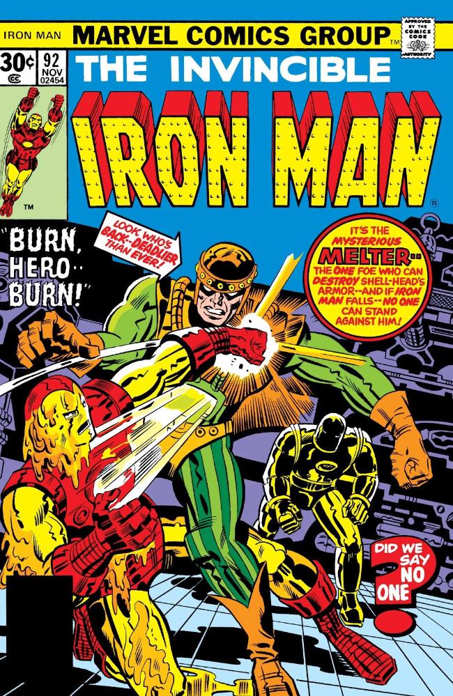 Couverture de Iron Man Vol.1 (Marvel comics - 1968) -92- Burn, Hero -- Burn!