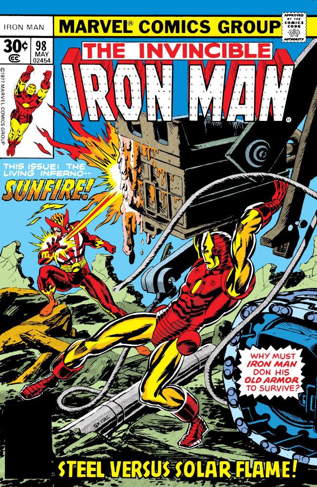 Couverture de Iron Man Vol.1 (Marvel comics - 1968) -98- Sunfire Strikes Again!