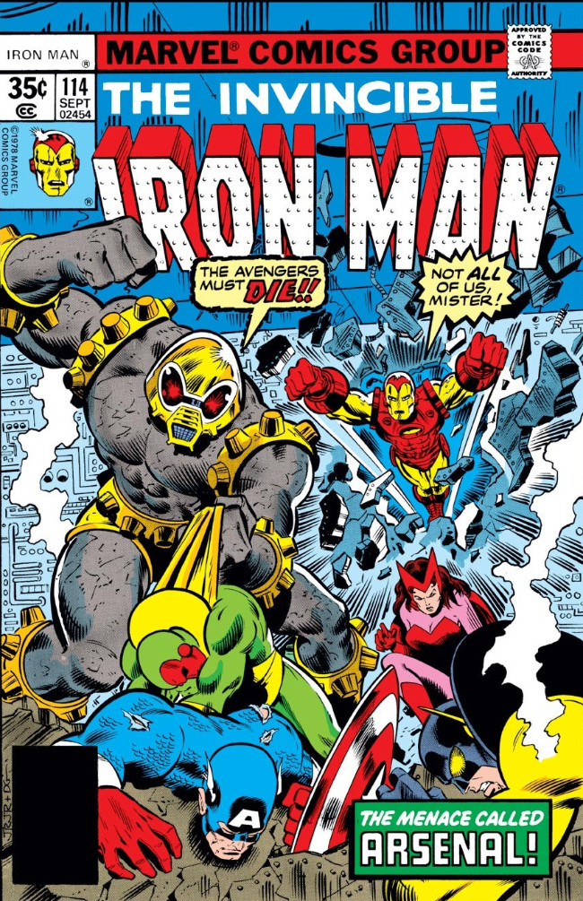 Couverture de Iron Man Vol.1 (Marvel comics - 1968) -114- The Menace of Arsenal!