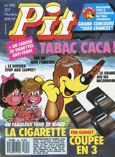 Couverture de Pif (Gadget) -995- la cigarette coupée en 3