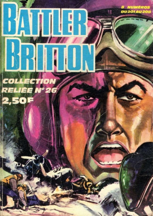 Couverture de Battler Britton -Rec26- Collection reliée N°26 (du n°201 au n°208)