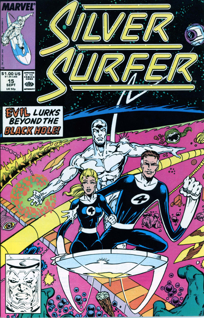 Couverture de Silver Surfer Vol.3 (Marvel comics - 1987) -15- Three into nothing goes...