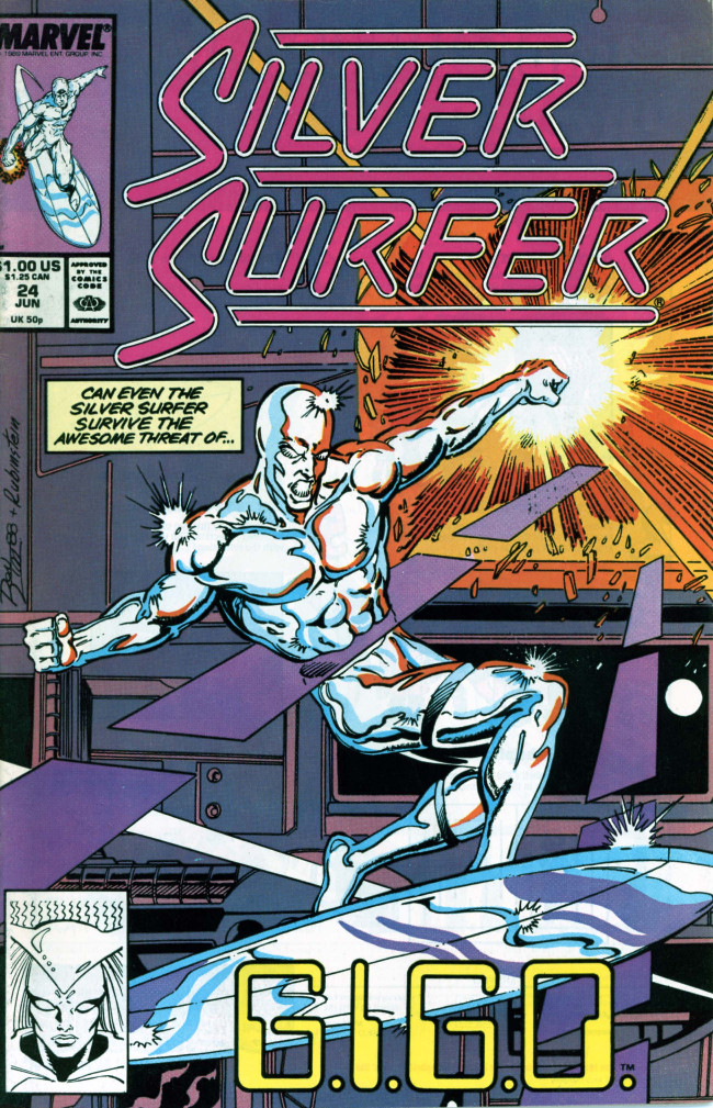 Couverture de Silver Surfer Vol.3 (Marvel comics - 1987) -24- G.I.G.O.
