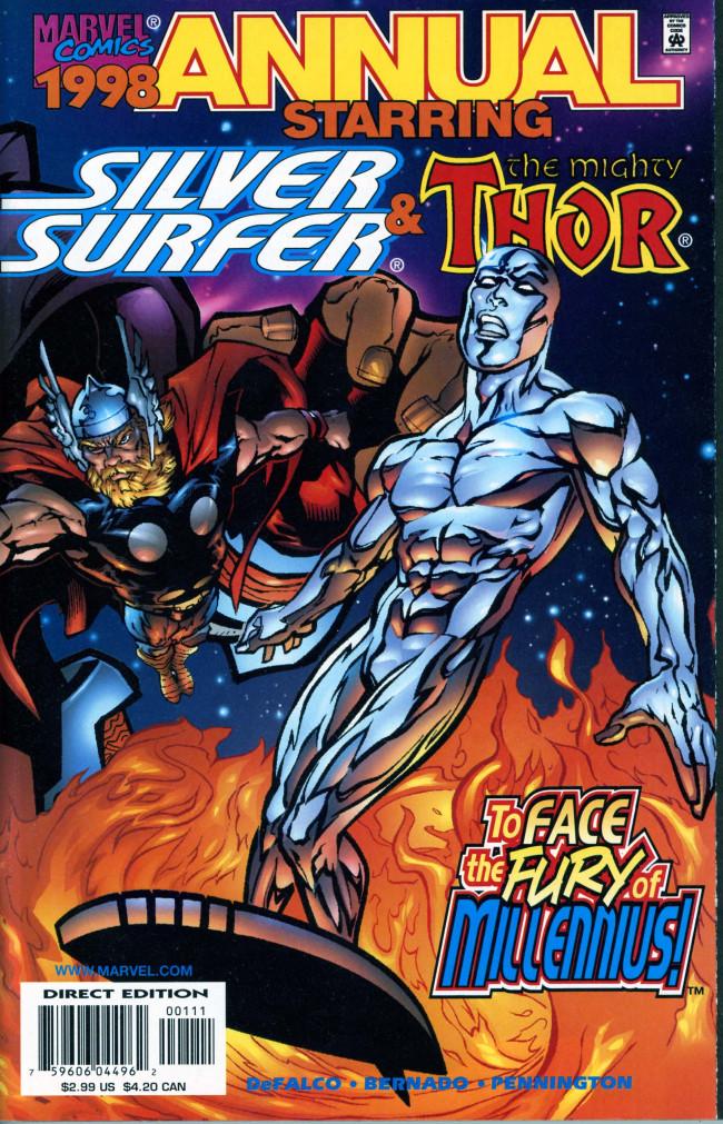 Couverture de Silver Surfer Vol.3 (Marvel comics - 1987) -AN11- Millennius!