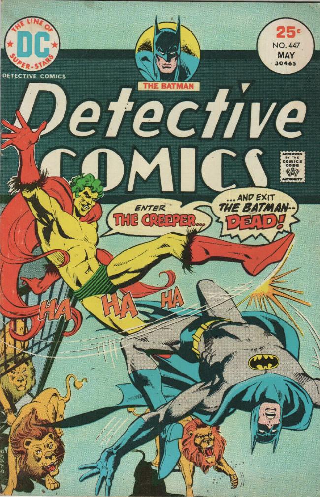 Couverture de Detective Comics (1937) -447- Enter: The Creeper