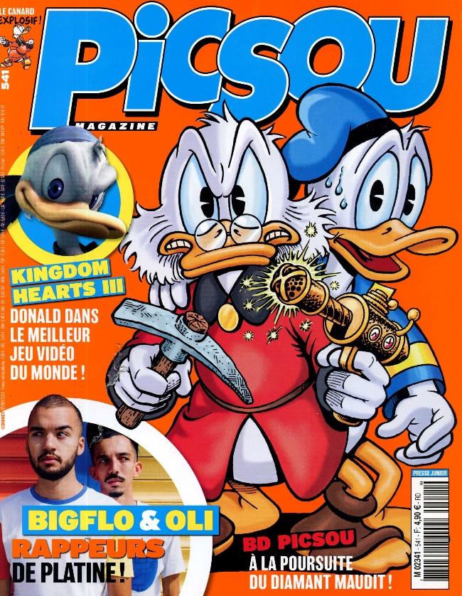 Couverture de Picsou Magazine -541- Picsou et le diamant maudit !