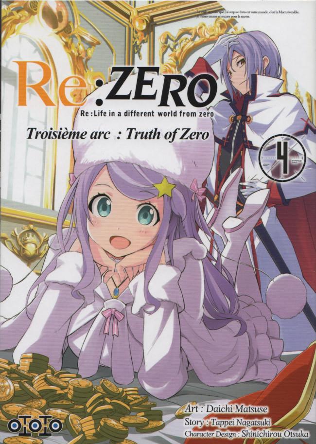 Couverture de Re:Zero (Re : Life in a different world from zero) -34- Troisième arc : Truth of Zero
