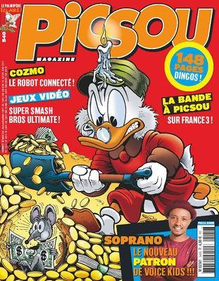 Couverture de Picsou Magazine -540- Picsou et le roi de la riviere d'or!