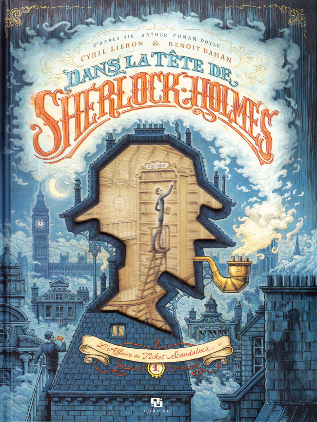 Couverture de Dans la tête de Sherlock Holmes -1- L'Affaire du Ticket Scandaleux 1/2