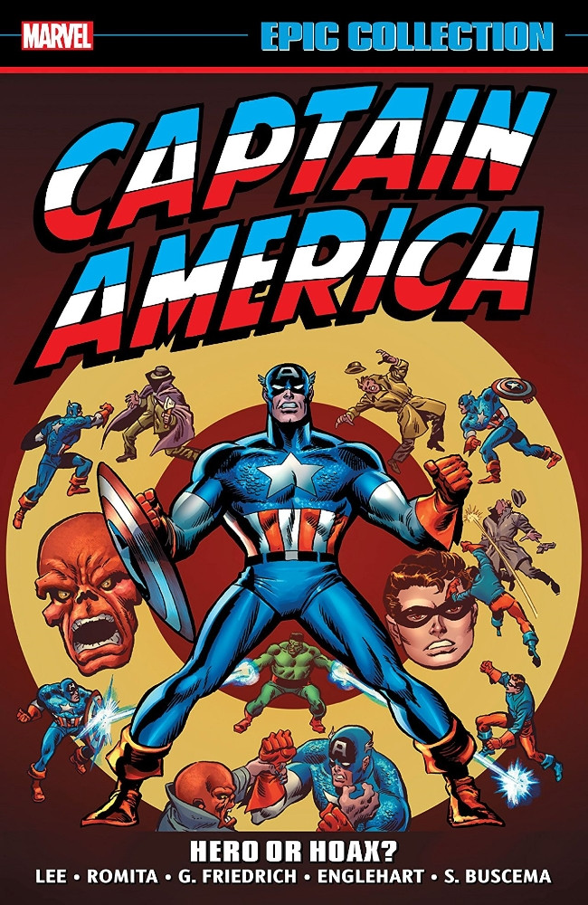 Couverture de Captain America Epic Collection (2014) -INT04- Hero Or Hoax?