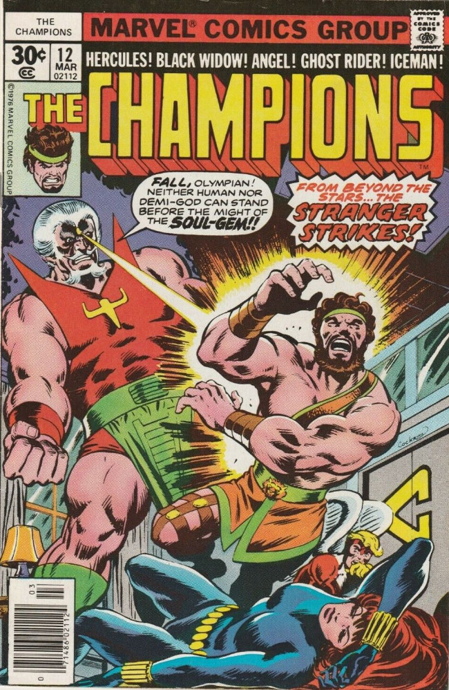 Couverture de Champions (The) (1975) -12- From Beyond the Stars...The Stranger Strikes!