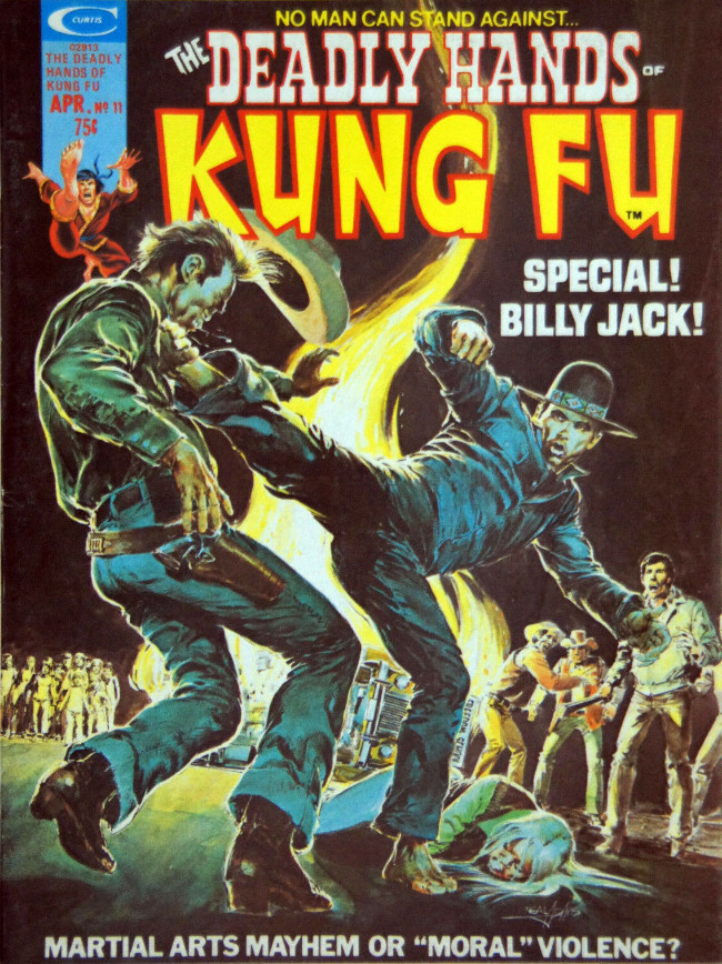 Couverture de Deadly Hands of Kung Fu (The) (1974) -11- A Different Lesson In Blood Unchanged!