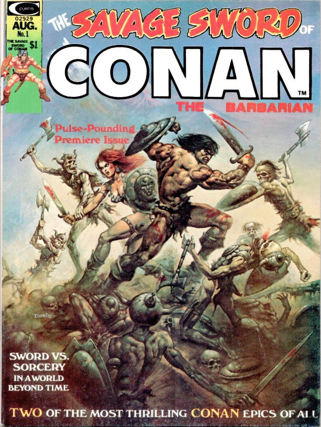 Couverture de Savage Sword of Conan The Barbarian (The) (1974) -1- Issue #1