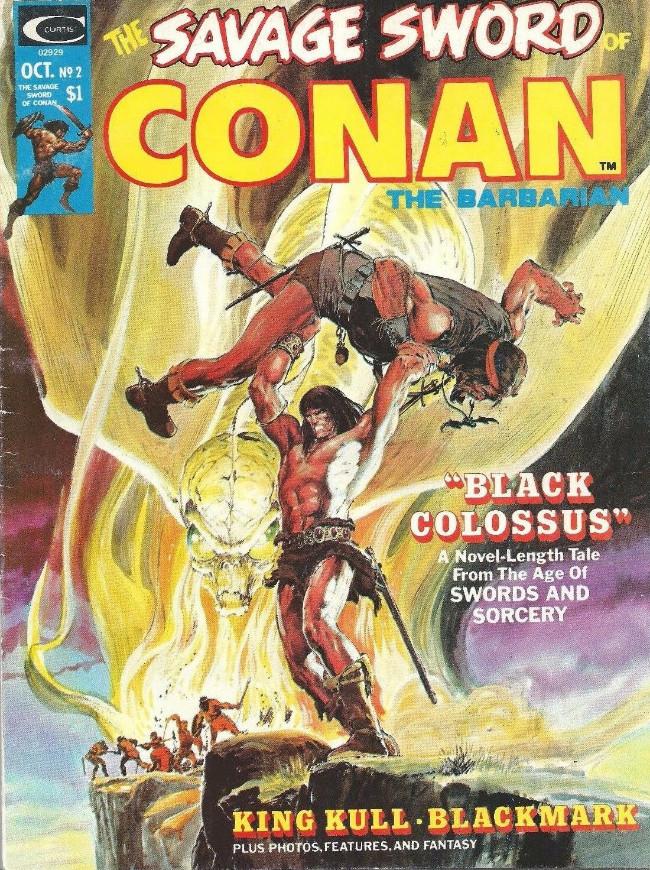 Couverture de Savage Sword of Conan The Barbarian (The) (1974) -2- Black Colossus