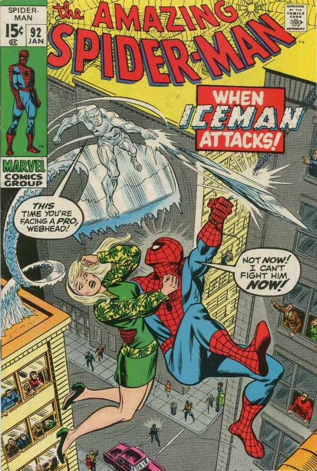 Couverture de The amazing Spider-Man Vol.1 (Marvel comics - 1963) -92- When Iceman Attacks!