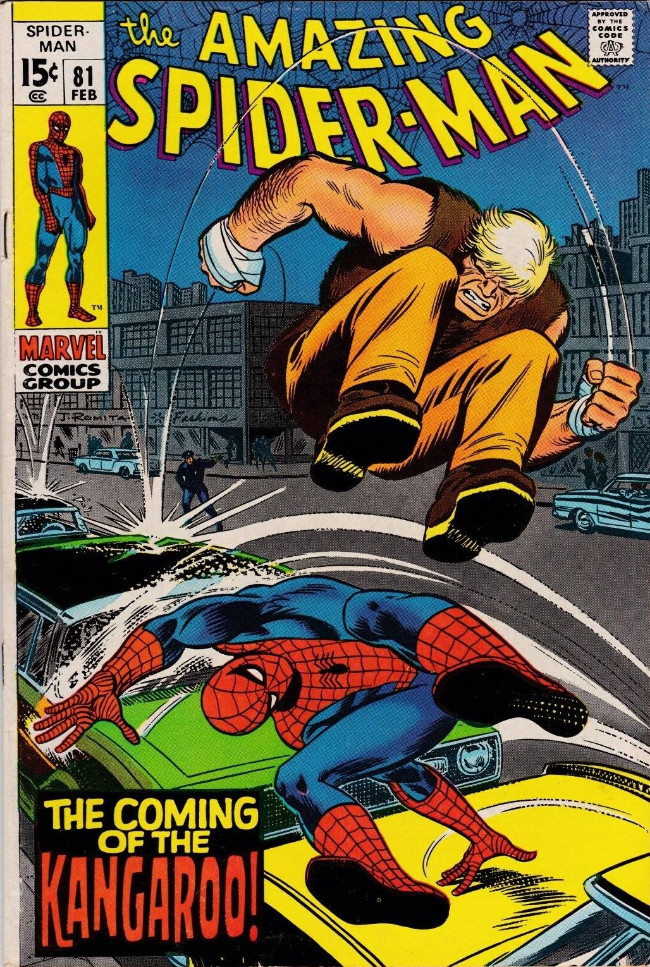 Couverture de The amazing Spider-Man Vol.1 (Marvel comics - 1963) -81- The Coming of the Kangaroo!