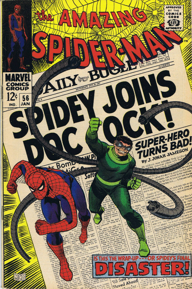 Couverture de The amazing Spider-Man Vol.1 (Marvel comics - 1963) -56- Disaster!