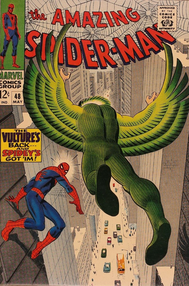 Couverture de The amazing Spider-Man Vol.1 (Marvel comics - 1963) -48- The Wings of the Vulture!