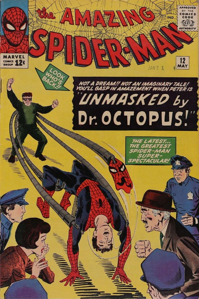 Couverture de The amazing Spider-Man Vol.1 (Marvel comics - 1963) -12- Unmasked by Doctor Octopus!