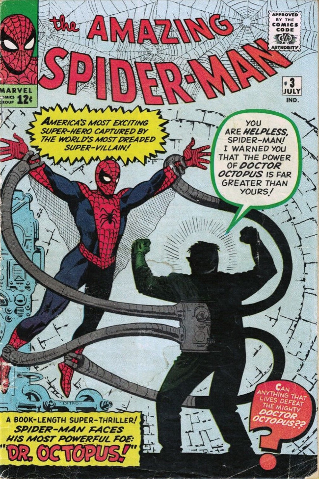 Couverture de The amazing Spider-Man Vol.1 (Marvel comics - 1963) -3- Spider-Man Versus Doctor Octopus