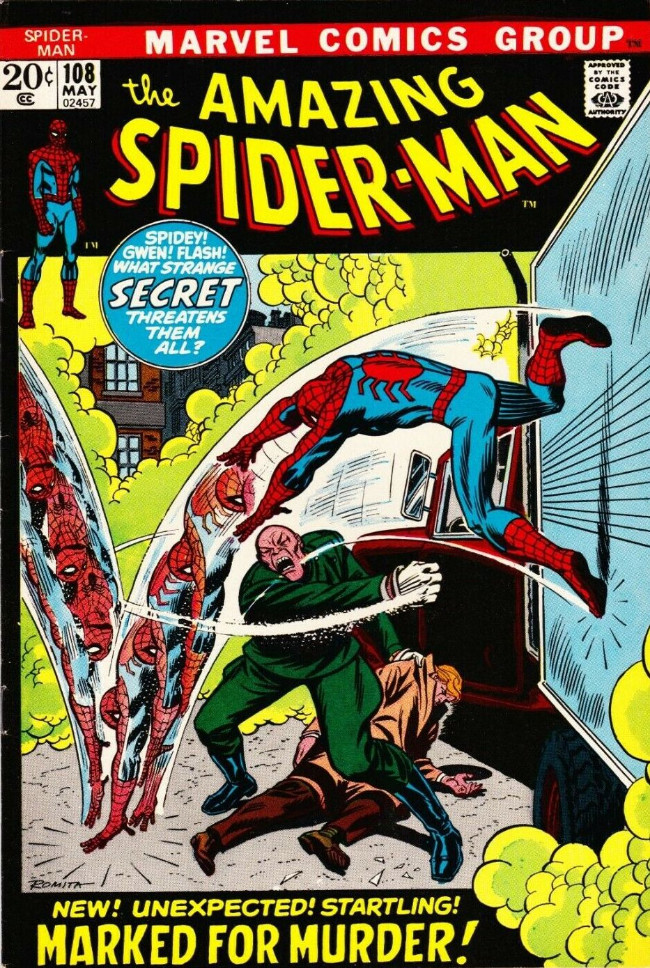 Couverture de The amazing Spider-Man Vol.1 (Marvel comics - 1963) -108- Marked for Murder!