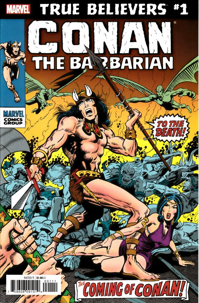 Couverture de True Believers: Conan (2019) - True Believers: Conan the Barbarian