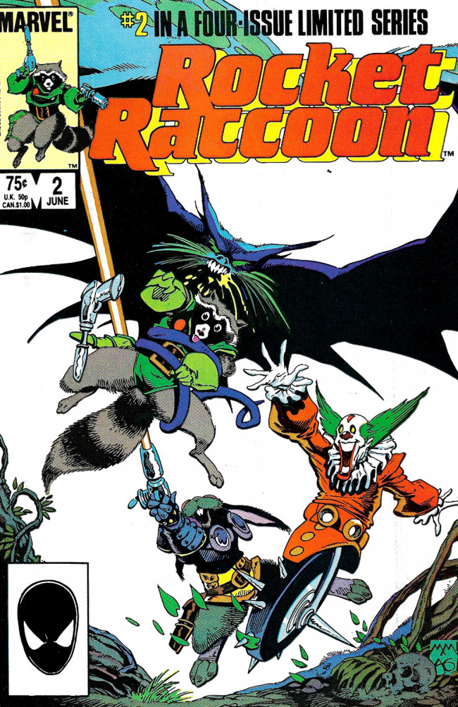 Couverture de Rocket Raccoon (1985) -2- The Masque Of The Red Breath